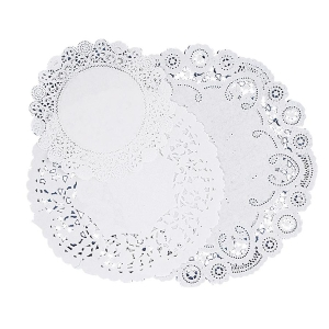 DOILIES ROUND 4 6 & 8IN WHITE 30CT