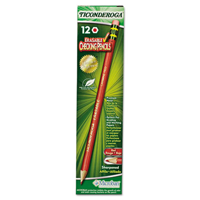 TICONDEROGA ERASABLE 12CT COLORED