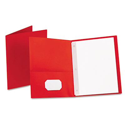 OXFORD 25CT RED TWIN POCKET FOLDERS