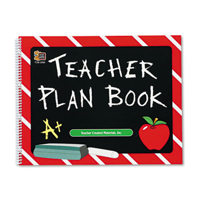 TEACHER PLAN BOOK CHALKBOARD