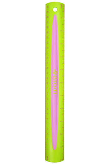 MICROBAN 12IN KIDS SOFT TOUCH RULER