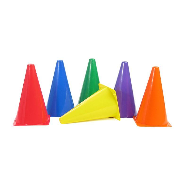 RIGID PLASTIC CONES 9IN SET OF 6