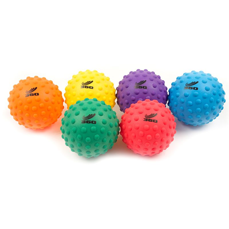 SENSORY BALL SET 5IN SET OF 6