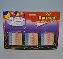 Birthday Candles pkg. 72