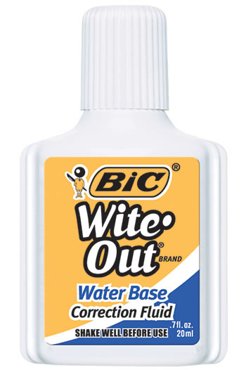 BIC WITE OUT CORRECTION FLUID WATER