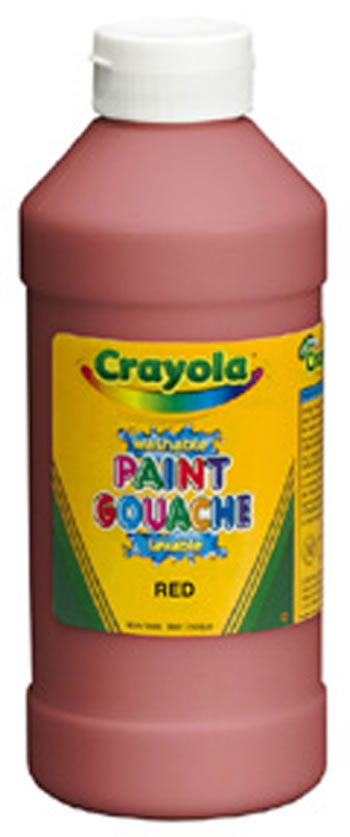 CRAYOLA WASHABLE PAINT 16OZ ORANGE