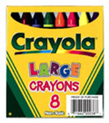 CRAYOLA LARGE SIZE LIFT BOX 8-PK