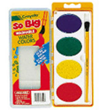 SO BIG WASHABLE WATERCOLORS 4 COLOR