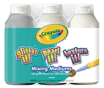 CRAYOLA 3 CT 8 OZ TEMPERA MIXING
