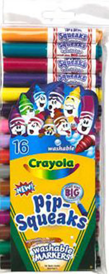 PIP SQUEAKS MARKERS 16 CT SHORT