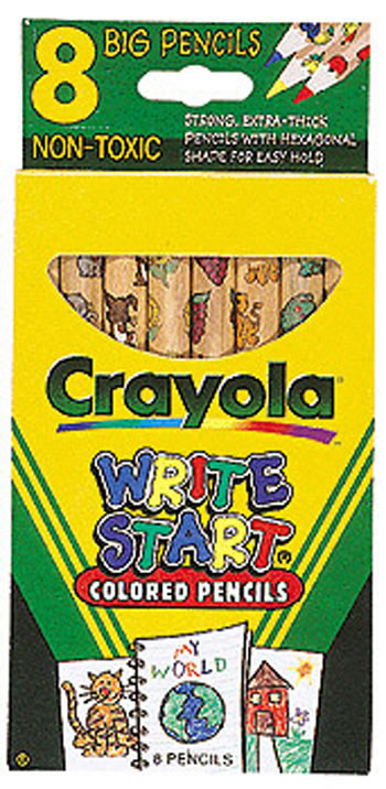 crayola write start 8 ct colored - Crayola Write Start Colored Pencils