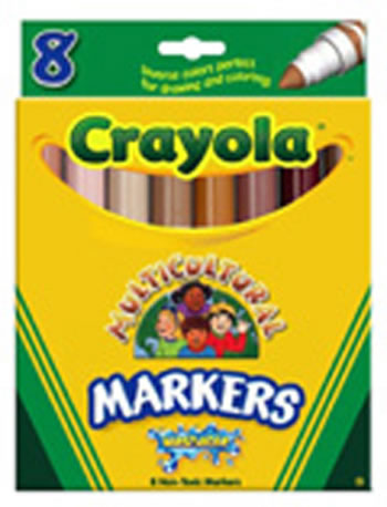 MULTICULTURAL WASHABLE MARKERS 8PK