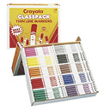 CRAYOLA CLASSPK MARKERS 200 CT