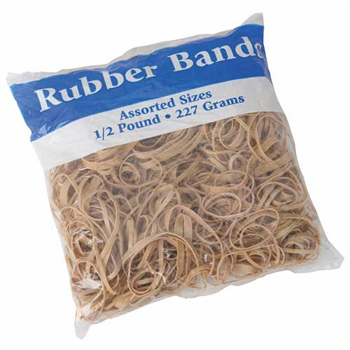 Rubber bands, bag