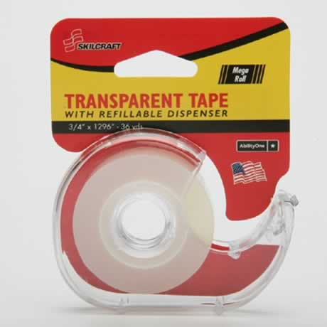 Transparent tape, roll