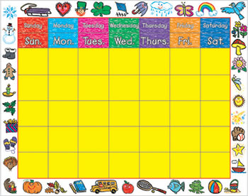 CHART CALENDAR KID-DRAWN BORDER