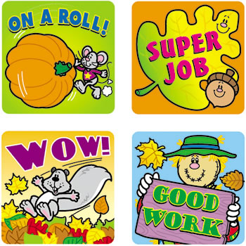 STICKERS FALL FUN 120/PK ACID &