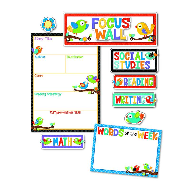 BOHO BIRDS FOCUS WALL BB SET
