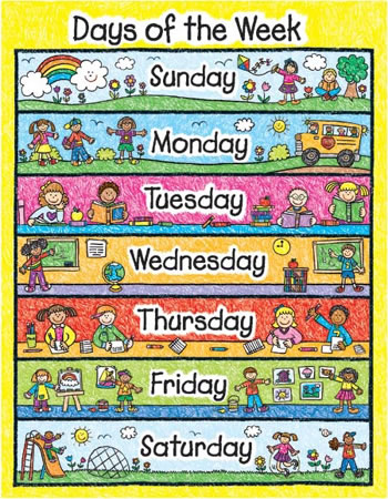 DAYS OF THE WEEK KID-DRAWN