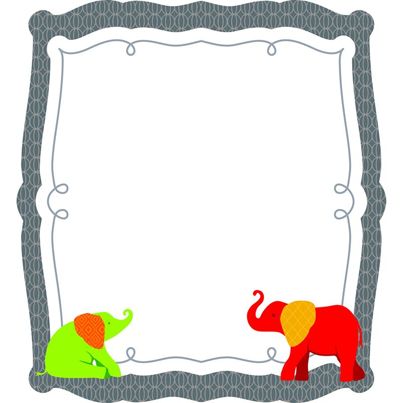 ELEPHANT COLORFUL CUT OUTS GR PK-8