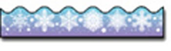BORDER SNOWFLAKES SCALLOPED