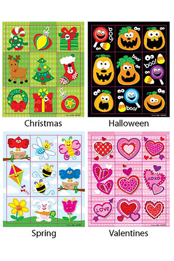 HOLIDAY PRIZE PACK STICKERS SET