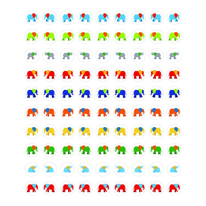 PARADE OF ELEPHANTS STICKERS