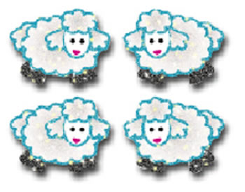DAZZLE STICKERS LAMBS 96/PK ACID &