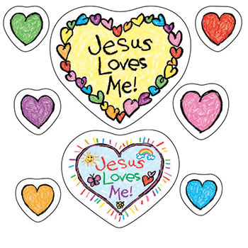 JESUS LOVES ME STICKERS - 72 PER PK