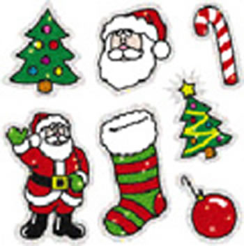 DAZZLE STICKERS CHRISTMAS 105-PK