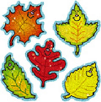 DAZZLE STICKERS FALL LEAVES 75-PK