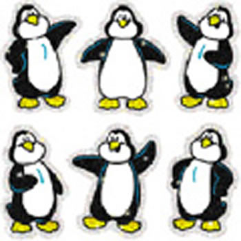 DAZZLE STICKERS PENGUINS 90-PK ACID
