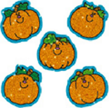DAZZLE STICKERS PUMPKINS 75-PK ACID