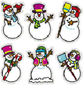 DAZZLE STICKERS SNOWMEN 90-PK ACID