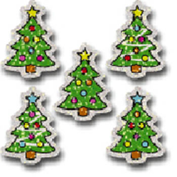 DAZZLE STICKERS CHRISTMAS TREES 75