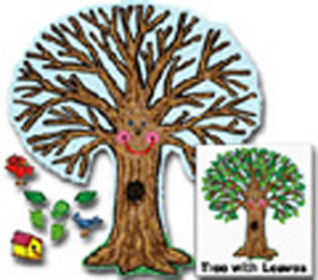 BB SET BIG TREE KID-DRAWN 48 X 54
