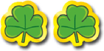 SHAMROCKS STICKERS 120 PER PK