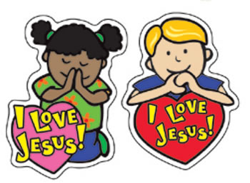 I LOVE JESUS STICKERS 90 PER PK