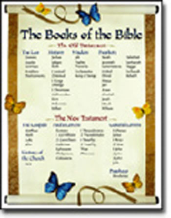CHARTLET THE BOOKS OF THE BIBLE