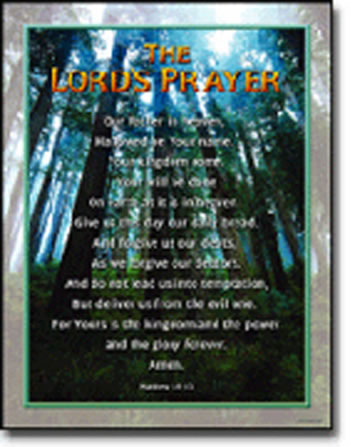 CHARTLET THE LORDS PRAYER 17X22