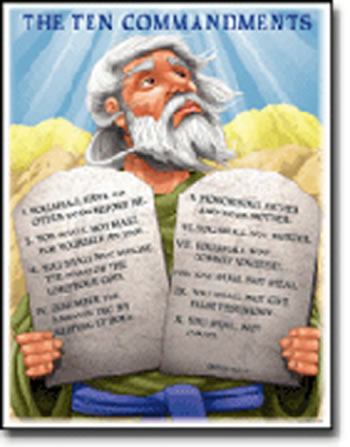 CHARTLET THE TEN COMMANDMENTS