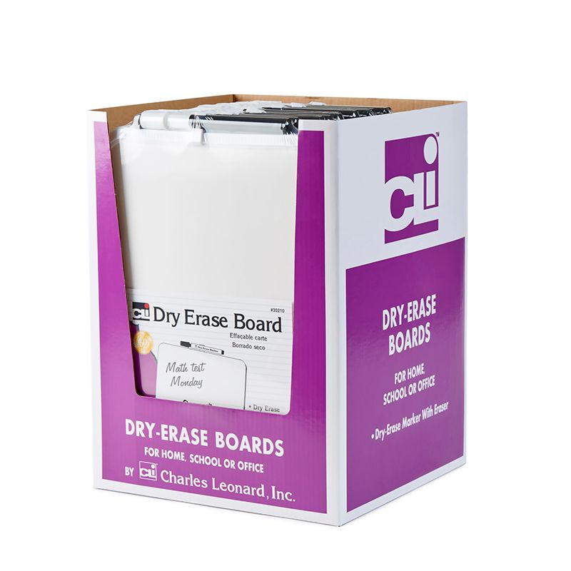 DRY ERASE BOARDS WITH FRAMES 12PK