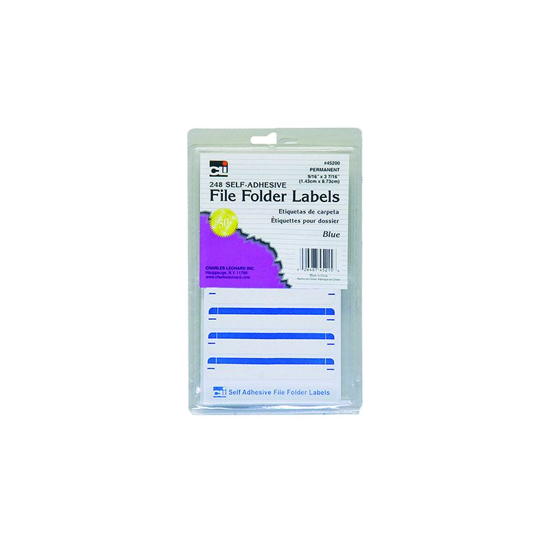 FILE FOLDER LABELS BLUE