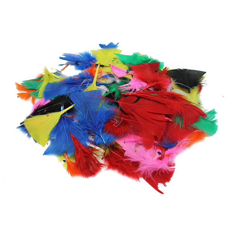 TURKEY FEATHERS BRIGHT COLORS 14G