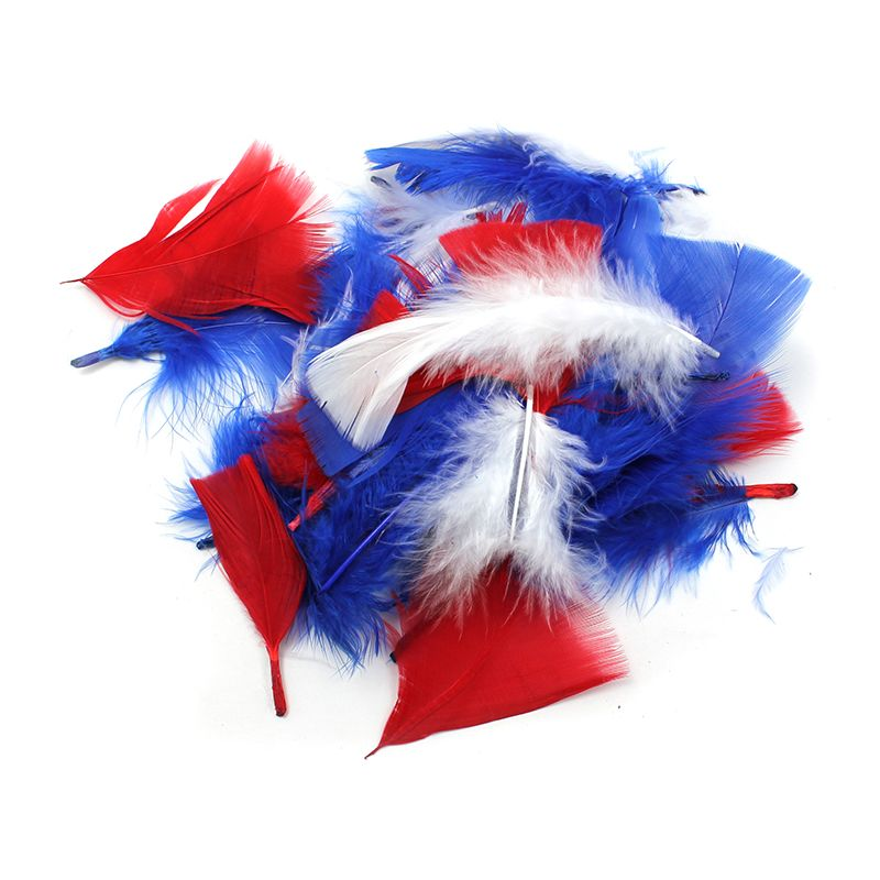 TURKEY FEATHERS PATRIOTIC COLORS 14