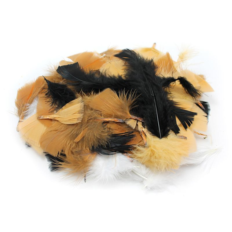 TURKEY FEATHERS NATURAL COLORS 14G