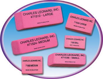 12/BX SYNTHETIC PINK WEDGE ERASERS