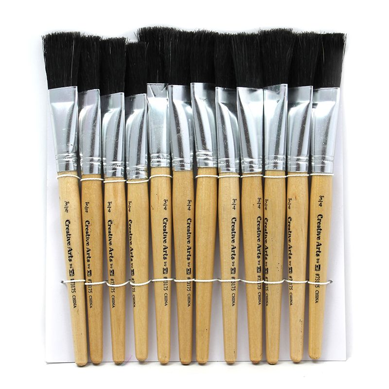 BRUSHES STUBBY EASEL FLAT 3/4IN