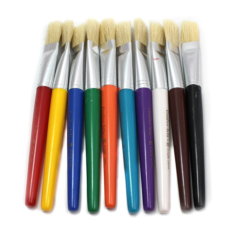 BRUSHES STUBBY FLAT 10 SET