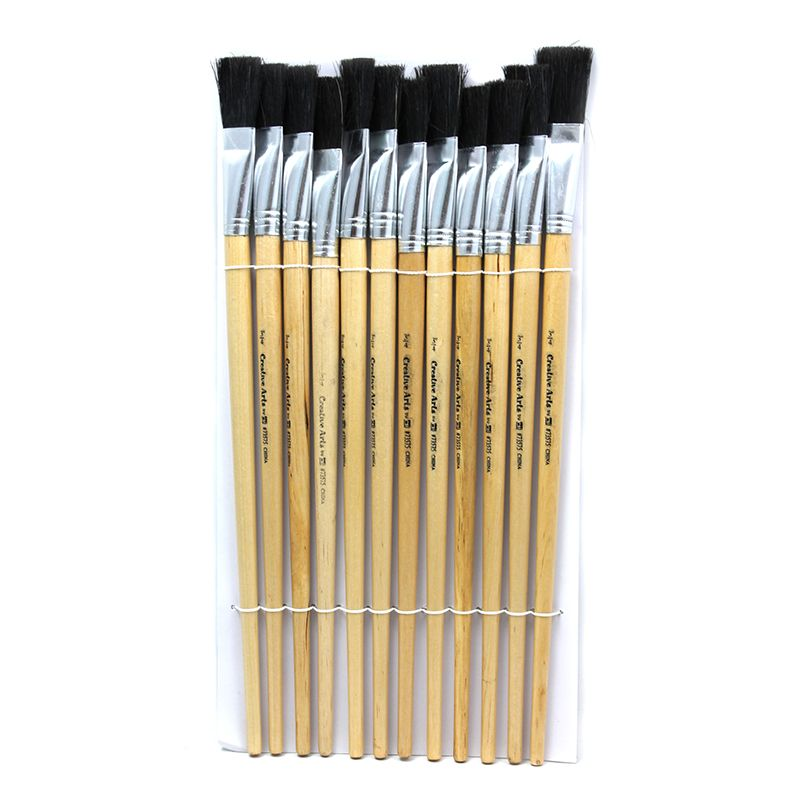 BRUSHES EASEL FLAT 3/4IN BRISTLE